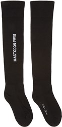 Rick Owens Black Mastodon Over The Knee Socks