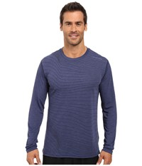 Brooks Distance Long Sleeve Top Heather Coast Forge Men's Long Sleeve Pullover Blue