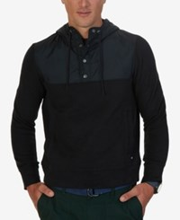 Nautica Men's Colorblocked Hoodie True Black