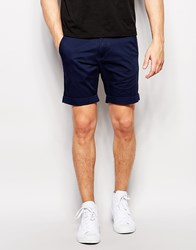 Selected Homme Chino Shorts Navy Blue