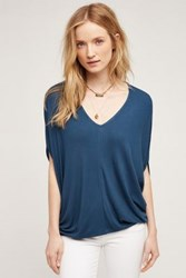 Anthropologie Ribbed Cocoon Tee Dark Turquoise