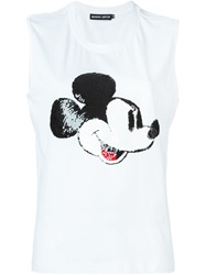 Markus Lupfer Sequinned Mickey Mouse Tank White