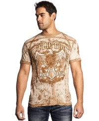 Affliction Tried And True Tee Beige