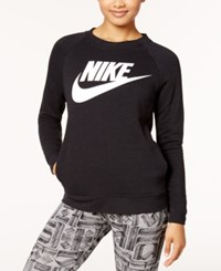 Nike Sportswear Modern Fleece Logo Sweatshirt Black White