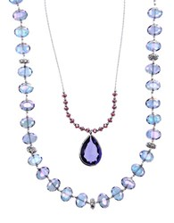 Lonna And Lilly Two Row Nested Pendant Necklace Purple