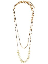 Rosantica Beaded Necklace Brown