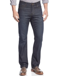 Alfani Big And Tall Straight Leg Coated Cullen Jeans