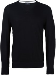 Joseph Patched Elbow Jumper Black