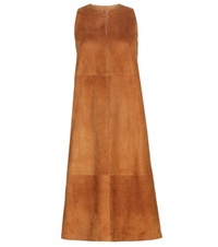 The Row Ronston Suede Dress Brown