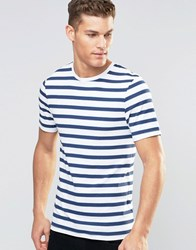 Asos Muscle T Shirt With Painted Stripes White