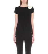 Ted Baker Tuline Bow Detail Jersey Top Black