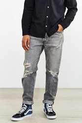 Levi's 501 Custom Tapered Lawson Repaired Jean Charcoal