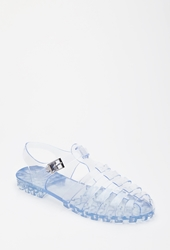 Forever 21 Caged Jelly Sandals Clear