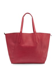 Liebeskind Niigata Leather Tote Bag Cherry Red