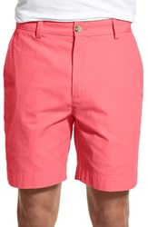 Men's Vineyard Vines 'Summer' Flat Front Twill Shorts Jetty Red