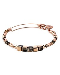 Alex And Ani Crown Expandable Wire Bangle Rose Gold