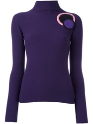 Emporio Armani Circle Patch Jumper Pink Purple