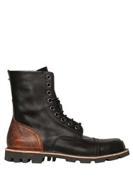 Diesel Steel Toe Two Tone Leather Lace Up Boots