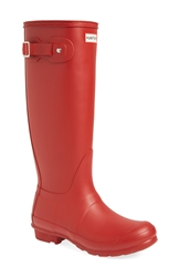 Hunter 'Original Tall' Rain Boot Women Military Red