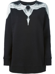 Marcelo Burlon County Of Milan Wing Print Sweatshirt Black