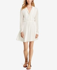 Denim And Supply Ralph Lauren Velvet Trim Sheer Dress Antique Cream
