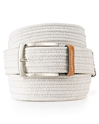 The Men's Store At Bloomingdale's Stretch Braided Belt White