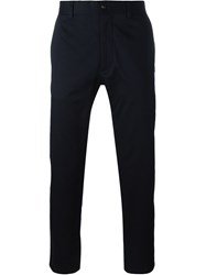 Moncler Gamme Bleu Tapered Chino Trousers Blue