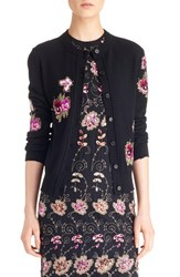 Women's Givenchy Floral Embroidered Wool Cardigan