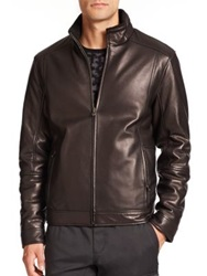 Saks Fifth Avenue Reversible Leather Jacket Black