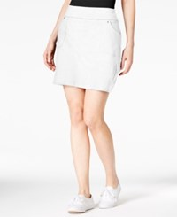 Styleandco. Style And Co. Pull On Cargo Skort Only At Macy's Bright White