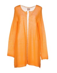 Douuod Knitwear Cardigans Women Orange