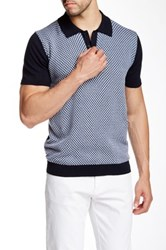 Barque Fancy Knit Sweater Polo Blue