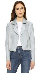 Paige Silvie Leather Jacket Blue Fog