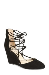 Jessica Simpson Women's Jacee Lace Up Wedge