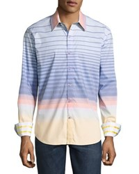 Robert Graham Peach Springs Striped Sport Shirt Multi