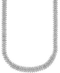 Victoria Townsend Rose Cut Diamond Collar Necklace In Silver Plated Brass 1 Ct. T.W.
