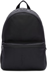 Neil Barrett Black Embossed Thunderbolt Backpack