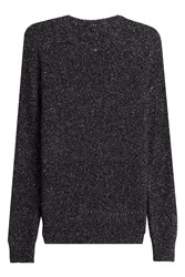Iro Pullover With Wool Silk Cotton And Alpaca Black