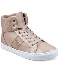 Guess Women's Jaela High Top Lace Up Sneakers Women's Shoes Light Rose
