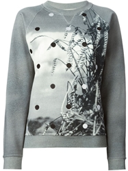 Jean Paul Gaultier Printed And Embroidered Sweatshirt Grey