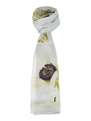 Ted Baker Lusia Silk Long Scarf Grey