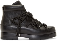 3.1 Phillip Lim Black Leather Hiking Boots