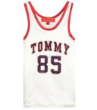 Tommy Hilfiger Satin Top With Applique White