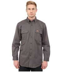Carhartt Sandstone Oakman Work Shirt Gravel Men's Short Sleeve Button Up Silver