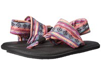 Sanuk Yoga Sling 2 Prints Magenta Multi Tribal Stripe Women's Sandals