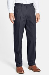 Men's Big And Tall John W. Nordstrom Smartcare Pleated Supima Cotton Pants Ink