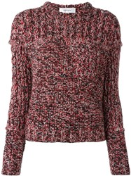 Carven Cropped Jumper Red