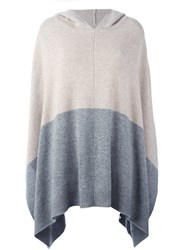 Chinti And Parker Contrast Colour Hooded Cape Nude And Neutrals