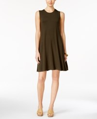 Styleandco. Style And Co. Sleeveless Shift Dress Only At Macy's Evening Olive