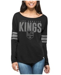 47 Brand '47 Women's Los Angeles Kings Courtside Long Sleeve T Shirt Black